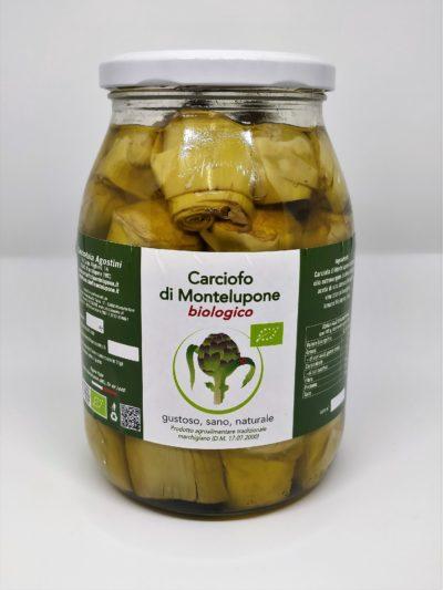 Carciofini di Montelupone bio sott'olio extra vergine di oliva in barattolo