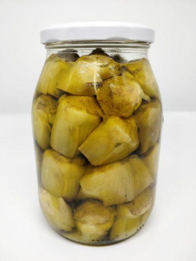 Carciofo di Montelupone bio sott'olio extra vergine di oliva in barattolo